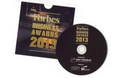 FORBES business awards 2013 - CD с печат и запис в картонена опаковка