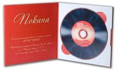 Аудио покана - печат и запис на диск, луксозна опаковка с твърди корици M-PACK